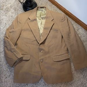 Camel Colored Fully Lined Wool Blazer- 42L